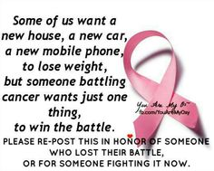 For everyone who suffers with cancer