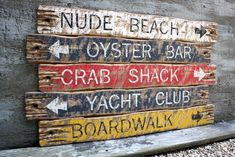 Reclaimed Wood Signs, Rustic Signs, Wooden Signs, Pool House Decor, Beach Wood Signs, Pool Signs, Backyard Signs, Backyard Ideas, Nautical Signs