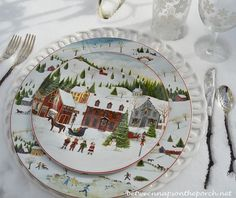 Thanksgiving & Christmas Tablescapes With Pottery Barn - David Carter Brown - Christmas Village