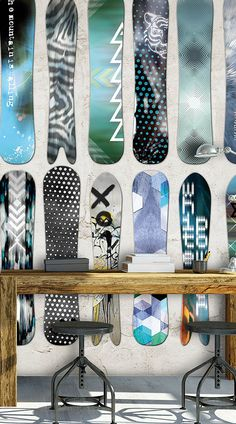 Snowboard behang voor stoere boys. #jongenskamer #behang #inspiratie Wannahaves dessin 'Snowboarding' Di2026. http://www.decohome.nl/assortiment/behang/dimago/4007