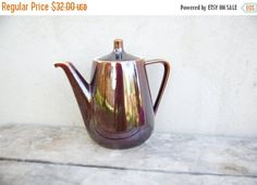 Vintage Villeroy and Boch Luxembourg Mid Century brown teapot - 1960's kitchen decor - tea ritual - original vase - 50's 60's teapot - home