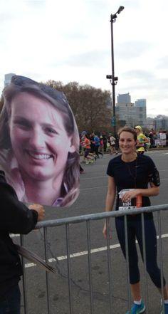 Great way to find your fans at a MARATHON! Yeah! Marathon, Fans, Marathons