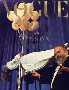 Orson Welles pour le numéro de décembre 1982/janvier 1983 de Vogue Paris - Fournis par Vogue