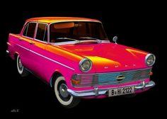 Opel Rekord P2 in Pop-Art pink
