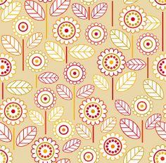 dancing flowers 1 | Tapeterie