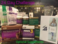 Optional Supplements for the 24 Day Challenge