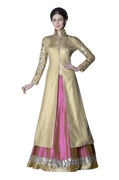 Raw Silk Lehenga With Zari And Sequin Embellishments -A0114029