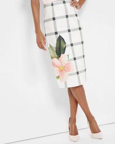 Secret Trellis pencil skirt - White | Skirts | Ted Baker UK
