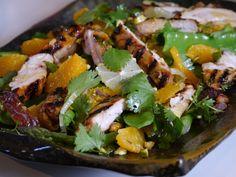 grilled orange chicken salad
