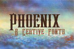 Phoenix Typeface by JumboDesign on @creativemarket