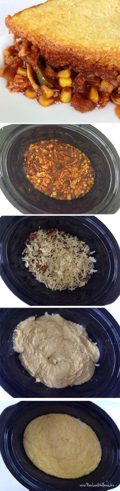 Slow Cooker Mexican Chili with Cornbread Topping. Even the cornbread cooks in the crockpot!