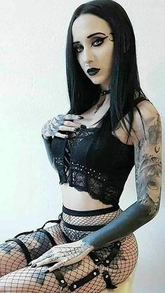 GotischeYou can find Goth girls and more on our website. Hot Goth Girls, Punk Girls, Sexy Hot Girls, Goth Beauty, Dark Beauty, Dark Fashion, Gothic Fashion, Gothic Korsett, Gothic Lingerie
