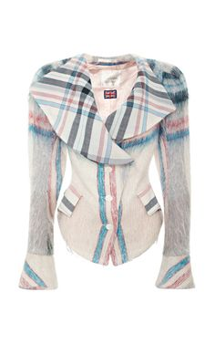 Vivienne Westwood White Plaid Jacket from What Goes Around Comes Around by Collectible Jackets - Moda Operandi