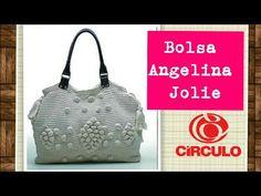 Versão destros: Bolsa Angelina Jolie em crochê ( 1° parte) # Elisa Crochê - YouTube
