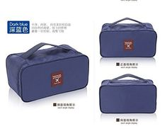cool Multi-Functional Travel Organizer Cosmetic Make-up Bag Portable Luggage Storage Case Bra Underwear Pouch (Dark Blue) - For Sale Check more at http://shipperscentral.com/wp/product/multi-functional-travel-organizer-cosmetic-make-up-bag-portable-luggage-storage-case-bra-underwear-pouch-dark-blue-for-sale/