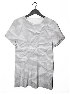 Crumpled Paper Print Tee by Clashist