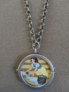 Vintage 1978 Snow White Pendant with Chain by TicketTrinkets, $30.00