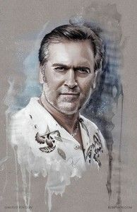 Bruce Campbell Wizard World VIP Exclusive Lithograph by Rob Prior.