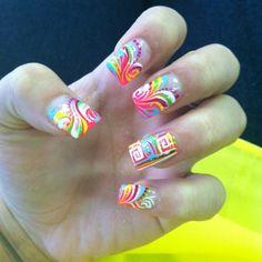 Nails. Pattern.
