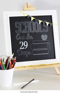 Chalkboard Countdown to the Last Day of School on Joann.com