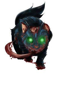 Zombie Cheshire Cat By Celson Kisler / Kisler Art Stock