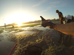 Clamming in Coos Bay.  Shot with GoPro Hero 3 Black.  Photo by Jason Moore.