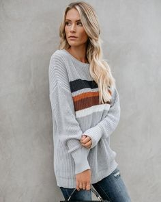 cfb75dc43e9c Jinkies Cotton Blend Striped Sweater Everyday Outfits