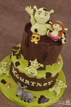 Excellent 82 Best Shrek Cakes Images Shrek Cake Shrek Cupcake Cakes Funny Birthday Cards Online Elaedamsfinfo
