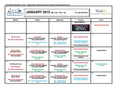 Our Jan 2015 Client Workshops Calendar is out! Remember to register with your case manager prior to attendance.
