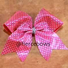 Pretty In Pink Cheer Bow on Etsy, $10.00