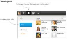 Un tableau blanc collaboratif pour travailler en groupe sur des images.