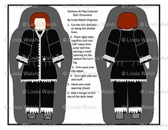 Zacheus Black & White Cut and Sew Doll Ornament Colonial Fabric - Linda Walsh Originals Fabric Designs: My New Colonial Custom Fabric Designs For ursula At Play and Her Brother, Zacheus At Play