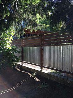 garden fences | front yard gardens - using corrugated metal … | Flickr