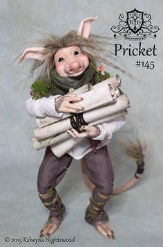 OOAK Troll Art Doll  Pricket by Ksheyna Nightswood by nightswood
