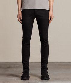 c367e98c4d8 Mens Crow Cigarette Jeans (Jet Black) - Image 1 Cigarette Jeans, Black Image