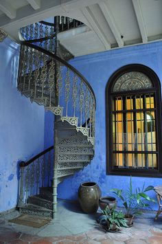 blue mansion #staircases
