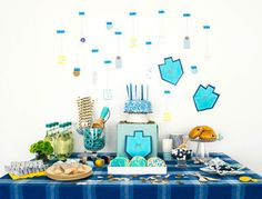 Celebrate the Festival of Lights with gelt pouches, homemade snacks and wrapping supplies as pretty as any party decor
