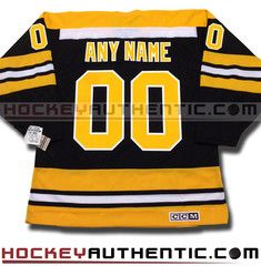 8da78fd4b Any name and number boston bruins ccm vintage 1970 replica nhl jersey