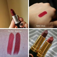 MAC Diva and Revlon Raisin Rage | Mac Lipstick Dupes | The Ultimate Guide