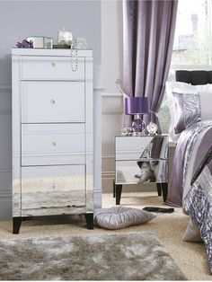 silver u0026 mauve bedroom