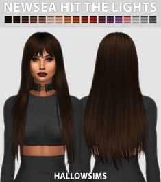 Hit the Lights Hair for The Sims 4