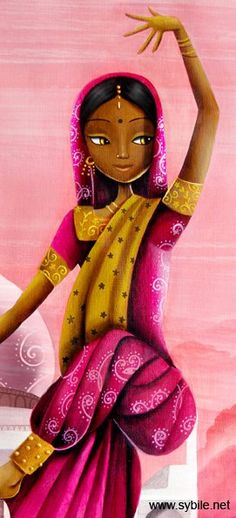 indian girl illustration