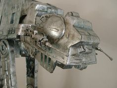 Silver Leafed & Glazed AT-AT 1 by shakti space designs, via Flickr