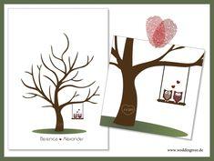 *Der Wedding Tree – ein etwas anderes Gästebuch…*    Mit einem Fingerabdruck verewigen sich Eure Hochzeitsgäste auf dem Wedding Tree. Jeder Abdruck sy