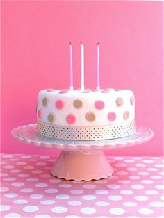 Beautiful Image of Polka Dot Birthday Cake . - is-sit tiegħi Beautiful Birthday Cake Images, Haute Cakes, Polka Dot Cakes, Polka Dots, Polka Dot Birthday, Birthday Cake With Candles, Cake Boss, Fancy Cakes, Pretty Cakes
