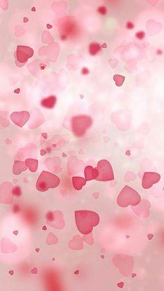 Pink Bokeh Hearts Wallpaper