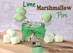 Lime Marshmallow Pops