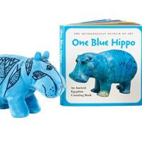One Blue Hippo Book and William® Plush