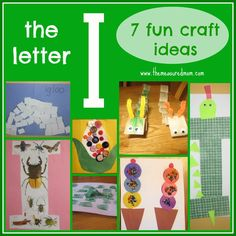 the measured mom letter I craft ideas 7 Fun Crafts for the Letter I Preschool Letter Crafts, Alphabet Letter Crafts, Abc Crafts, Daycare Crafts, Preschool Activities, Letter Art, Educational Activities, Kids Crafts, Letter I Activities