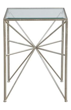 Free shipping and returns on Uttermost 'Silvana' Side Table at Nordstrom.com. A starburst design calls attention to an urban side table crafted from antiqued, silvertone-leafed iron and smooth, tempered glass.